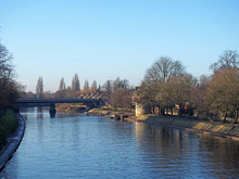 The River Ouse In York With Tr...