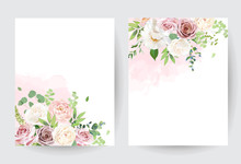 Floral Pastel Watercolor Style...
