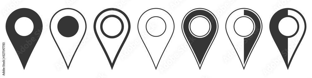 Fototapeta Location pin icons. Navigation icon. Map pointer