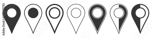 Obraz na plátně Location pin icons. Navigation icon. Map pointer