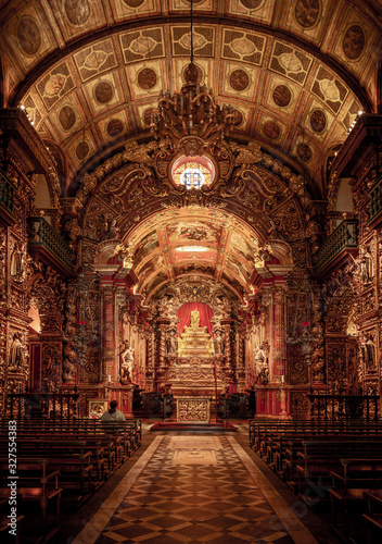 Sao Bento Monastery (Abbey of Our Lady of Montserrat) in Rio de Janeiro, Brazil Canvas Print