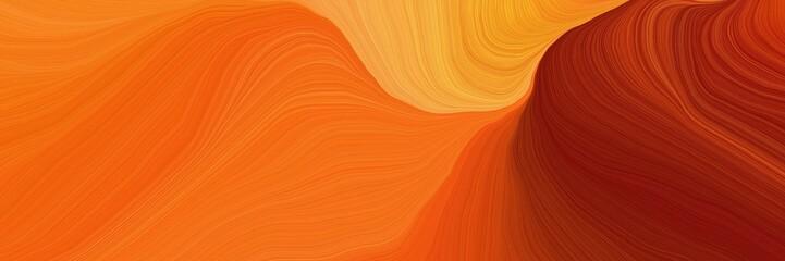 beautiful futuristic banner with dark orange, maroon and pastel orange color....