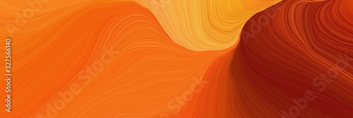 beautiful futuristic banner with dark orange, maroon and pastel orange color. curvy background illustration