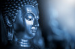 The background of the Buddha is energetic, mysterious and beautiful. Some Buddha images that emerge from darkness and light. Leave space for placing characters.