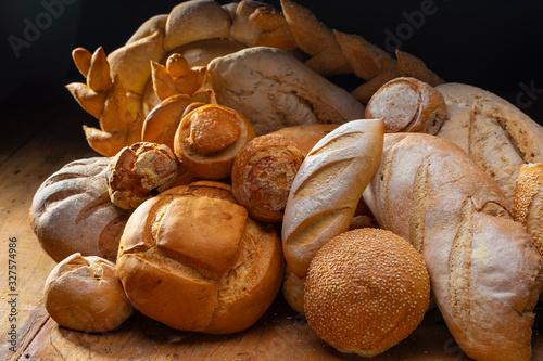 Fototapeta pães e doces artesanais