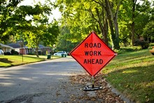 Road Work Ahead Construction S...