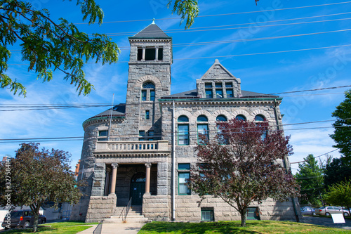 Photo Woonsocket District Courthouse in downtown Woonsocket, Rhode Island RI, USA