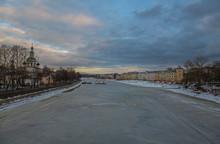 River In Winter In Vologda