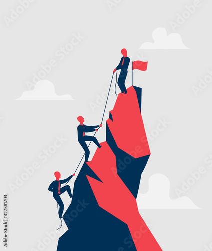Photo Venditori impegnati nella scalata al successo - illustrazione vettoriale
