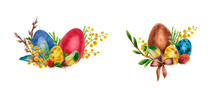 Watercolor Easter Bouquet
