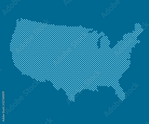 Obraz USA country map America with creative dots vector - fototapety do salonu