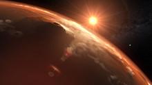 Mars Planet Sunset Sunrise In ...