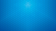 Deep Blue Hexagonal Clear Background For Business Presentation. HD 16x9 Vector Pattern.