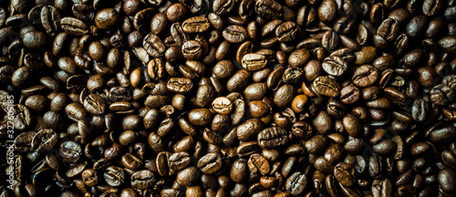 Photo coffee beans background