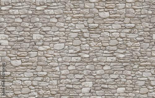 Dry stone wall masonry seamless texture map Canvas Print