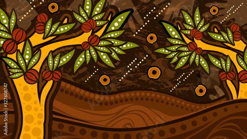 Fényképezés Bush tucker tree aboriginal art