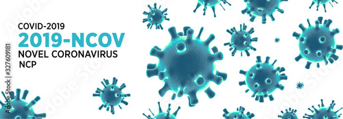 Fotomural China epidemic coronavirus 2019-nCoV in Wuhan, Novel Coronavirus (2019-nCoV)