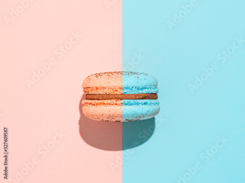 Photographie Creative layout with macaron