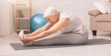 Active Senior Woman Doing Stre...