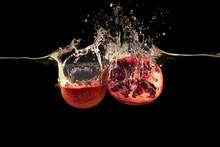 Delicious Pomegranate Halves A...