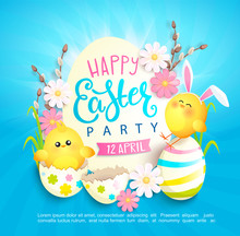Happy Easter Party Invitation ...