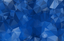 Abstract Blue Texture, Blue Background From Triangles, Vector Illustration. EPS10. Blue Water.