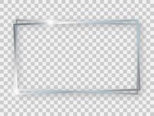 Double Silver Shiny 16x9 Recta...