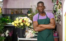 Proud Florist In Floral Shop