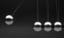 Newton Pendulum Cradle On A Bl...