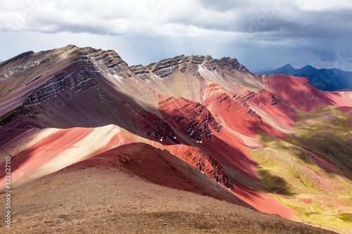 Photo Rainbow mountains in Peru, Peruvian Andes