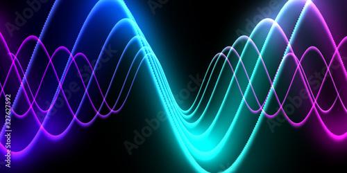 Speaking sound wave lines illustration Canvas Print