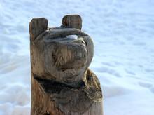 Wooden Sculpture Bear
