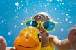 Child having fun on summer vacation