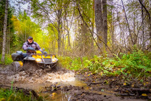 Dirt Ride On An ATV. Off-road ...