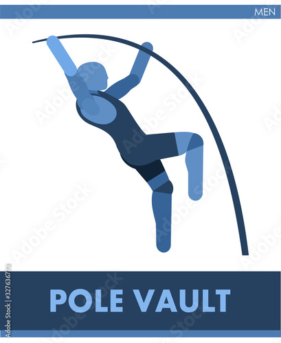 Photo Pole vaulting pictogram