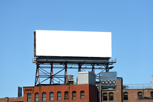 Large Billboard On Roof Top Of...