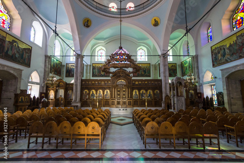 Fototapeta Interior of the Church of Saint Titus - Cathedral of the Orthodox Church of Crete