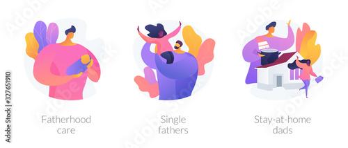 Vászonkép Men taking paternity leave metaphors
