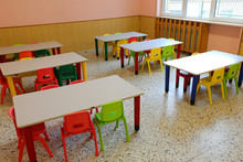 Chairs And Tables Of A Class W...