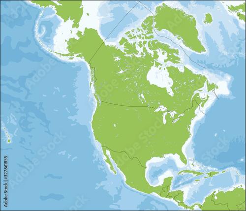 Fényképezés Map of North America