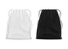 White And Black Drawstring Bag...