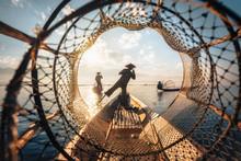Inle Lake Intha Fishermen At S...