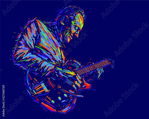 Fototapeta Musician with a guitar