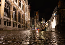 Ghent In Belgium By Night
