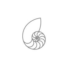 Nautilus. Outline Style. Isola...