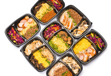 Containers With Healthy Food O...