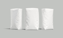 White Bags Or Sacks Isolated O...