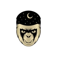 Gorilla Head Logo Element. On ...