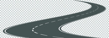 Vector Winding Road Isolated O...