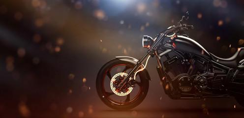 power, vintage, retro, chopper motorcycle, classic, 3d illustration, bike, brake, brake system, brandless, burning, cinematic, custom, disc, effect, fast, fire, flame, glow, hot, light, motor, motorbi